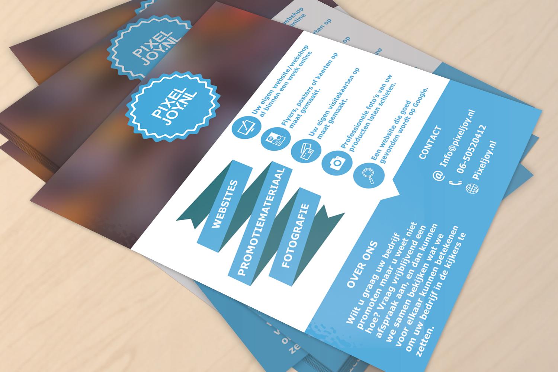 PixelJoy Webdesign Haarlem Flyer laten maken PixelJoy