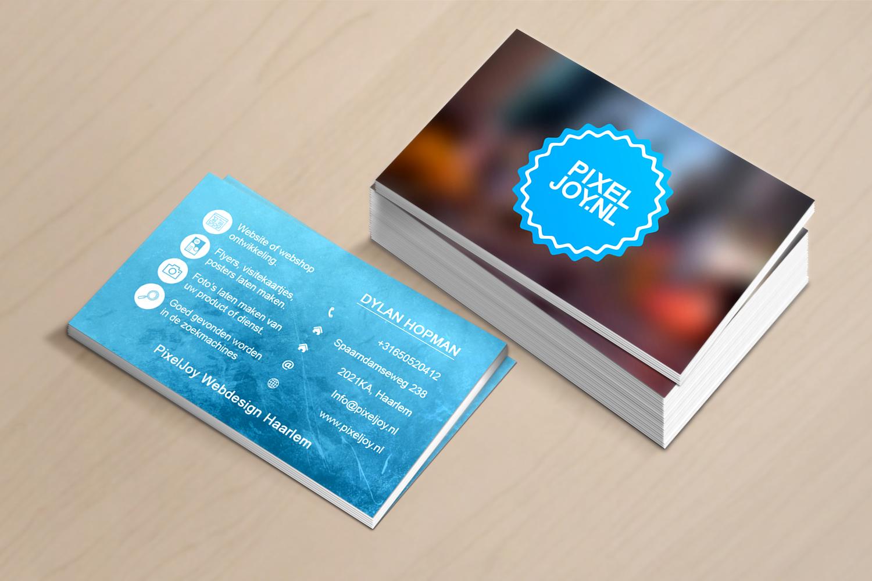 PixelJoy Webdesign Haarlem PixelJoy-visitekaartjes